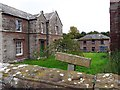 NY4654 : Old sandstone buildings, Wetheral Abbey Farm by Rose and Trev Clough