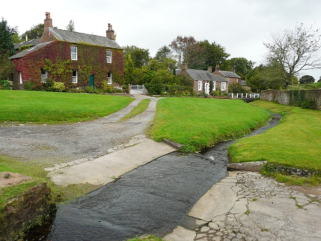Village green and ford, Cumwhitton