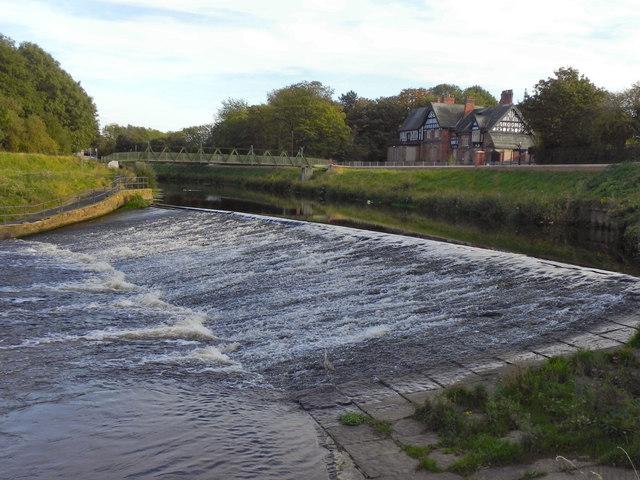 River Mersey, Northenden Weir