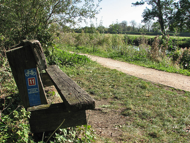 A bench by the Cam