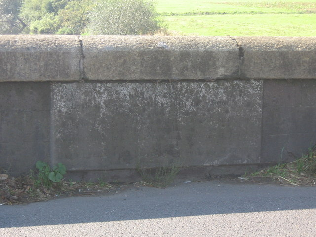 Inscribed stone on the Cowley Bridge
