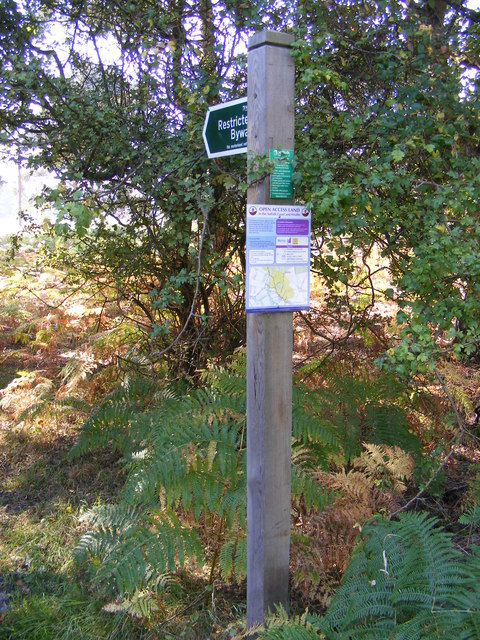 Restricted Byway Sign & Open Access Map