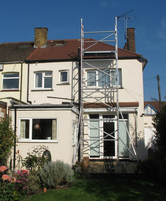 Installation of solar PV in North Acton - access tower