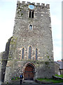 SH7877 : West side of tower - Church of St Mary and All Saints, Conwy by Phil Champion
