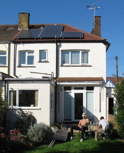 Installation of solar PV panels - job done