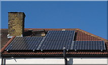 TQ2081 : Installation of solar PV panels - panels in place by David Hawgood