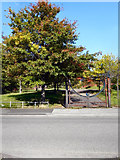 SJ8599 : Entrance to Collyhurst Village Park by David Dixon