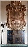 TQ3382 : St Leonard, Shoreditch High Street, Shoreditch - Wall monuments by John Salmon