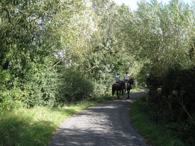 Riding on Gumhurn Lane