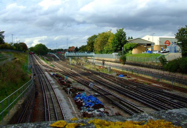 Tracks at Acton Town tube station
