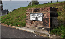 J4874 : Frederick Street sign, Newtownards by Albert Bridge