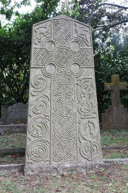 Cross on the headstone