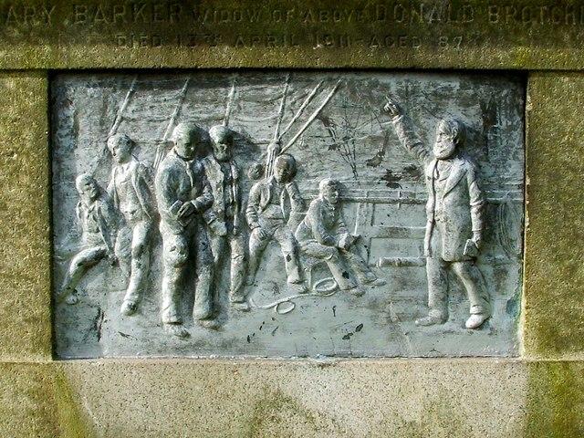 Donald Brotchie Memorial (detail)