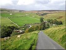 SD8970 : Road above Darnbrook House by Andrew Curtis