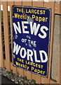 ST0841 : Old 'News of the World' advertisement, Williton Station by Roger Cornfoot