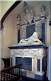 SU7037 : Monument to Sir Richard Knight - St Nicholas' church, Chawton by Mike Searle