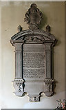 SU7037 : Wall monument to Elizabeth Knight - St Nicholas' church, Chawton by Mike Searle