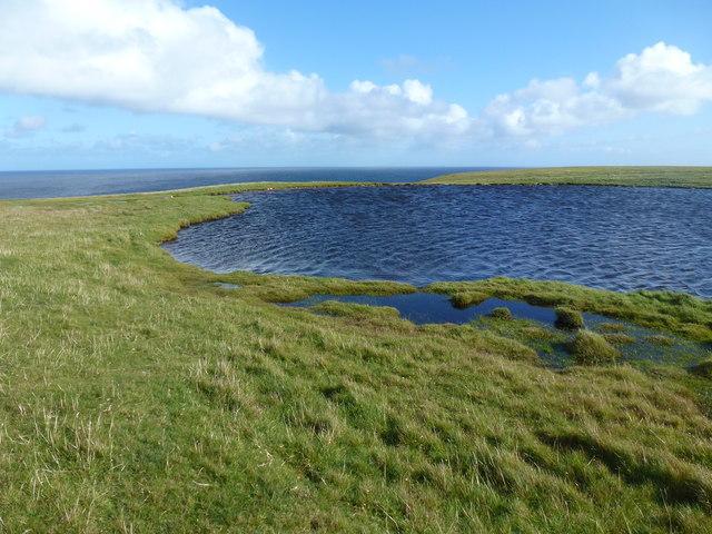 Loch near Dalsetter Broch