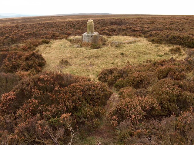 A view of Lady's Cross on White Edge Moor