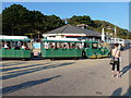 SZ0790 : Westbourne: the land train leaves for Bournemouth by Chris Downer