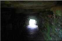 SW4028 : Carn Euny, inside the fogou, looking out by hayley green