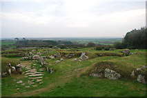 SW4028 : Looking over the settlement, Carn Euny ancient village by hayley green