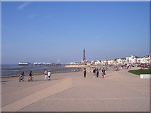 SD3035 : The promenade and Central Pier at Blackpool by Raymond Knapman