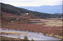 NN8596 : Bridge near Achleum, River Feshie by Jim Barton