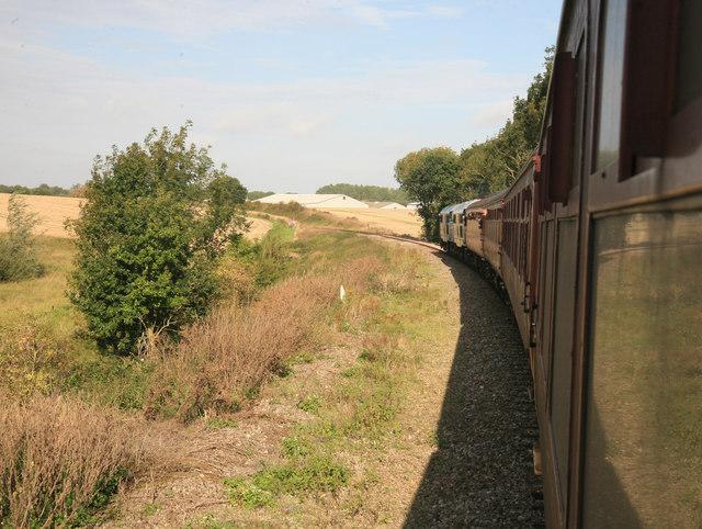 Mid Norfolk Railway nr Crownthorpe cutting