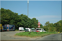 SU9946 : Layby on A281 with telecommunications mast by Robin Webster