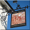 TQ4720 : The Alma sign by Oast House Archive