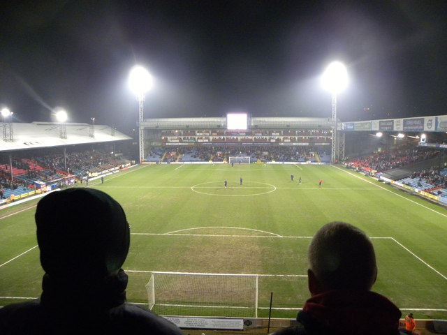 Crystal Palace v Preston North End. View from upper tier of Holmesdale Stand, Selhurst Park