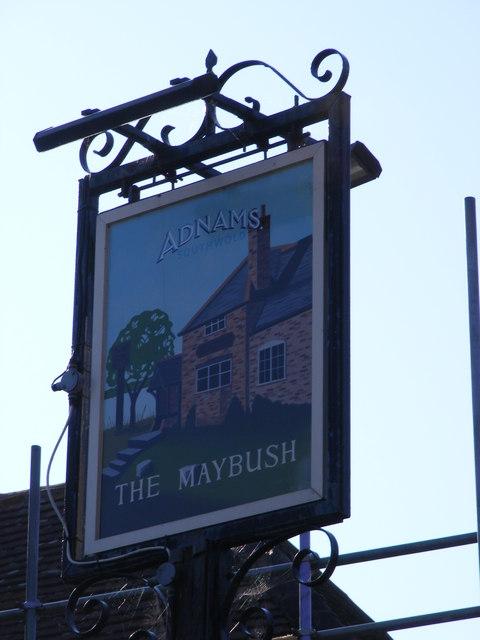The Maybush Public House sign