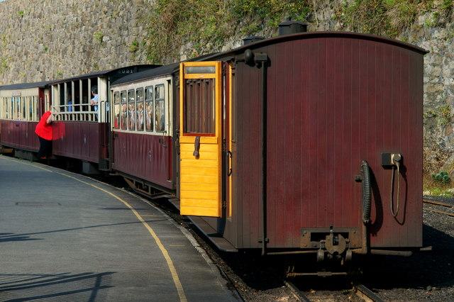 Welsh Highland Railway Train at Caernarfon, Gwynedd