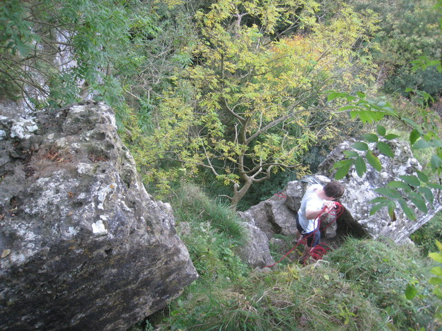 Climber on Peak Scar