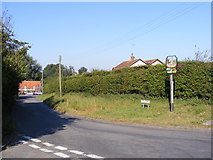 TM2743 : The Street, Newbourne & Newbourne Village Sign by Geographer