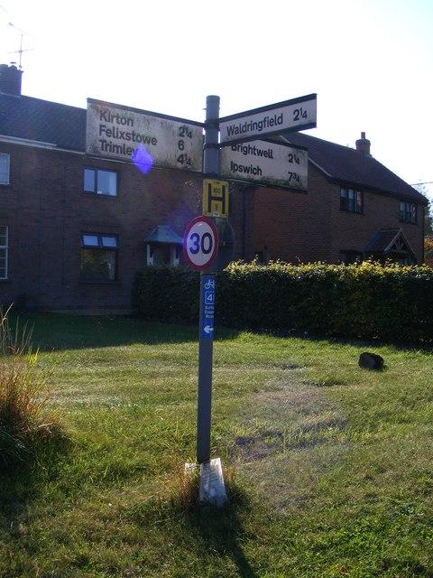 Roadsign on The Street, Newbourne