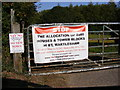 TM2742 : Protest Banner on Mill Road, Newbourne by Geographer