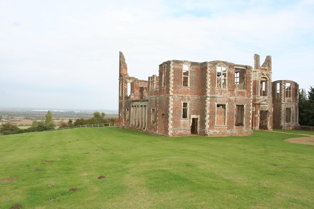Houghton House and view to the west