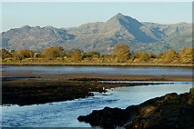SH5738 : View From the Britannia Bridge, Porthmadog by Peter Trimming