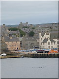 HU4741 : Lerwick: first view of the harbour by Chris Downer