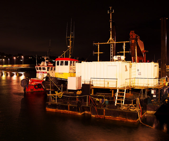 Tugs and a dredger, Bangor harbour