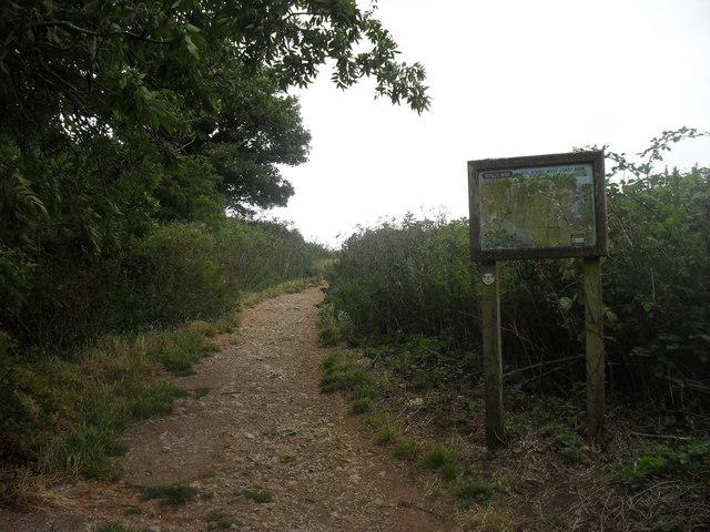 South West Coast Path onto Walls Hill