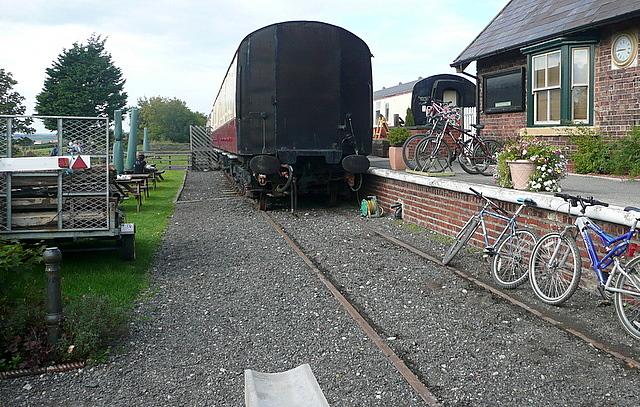 Platform at Hawsker station