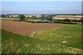 NT8238 : Farmland at Wark by Walter Baxter