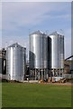 NT9851 : Silos at Tweedmouth Industrial Estate by Walter Baxter