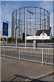 TQ3979 : Gasometer beside the A102 by Philip Halling