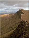 SO0121 : Steepness of north face of Craig Cwm Sere by Trevor Littlewood