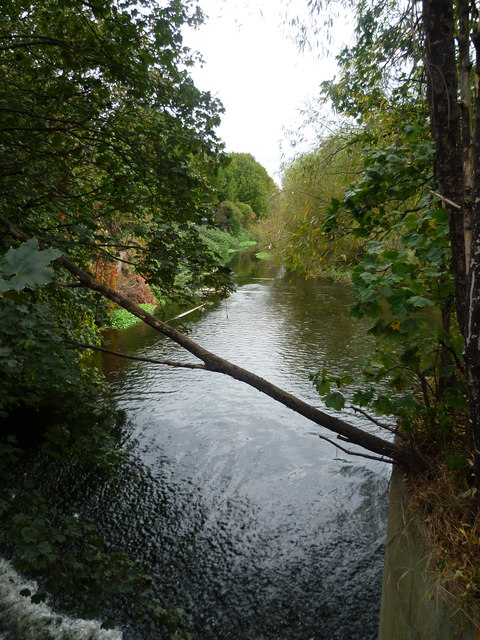 River Wandle from Trewint Street footbridge