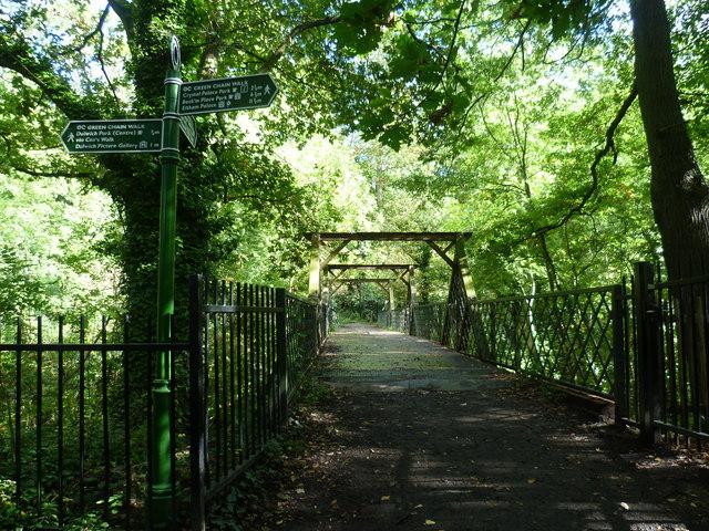 Footbridge in Sydenham Hill Woods
